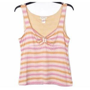 TOMMY BAHAMA Striped Tank Top Size Small